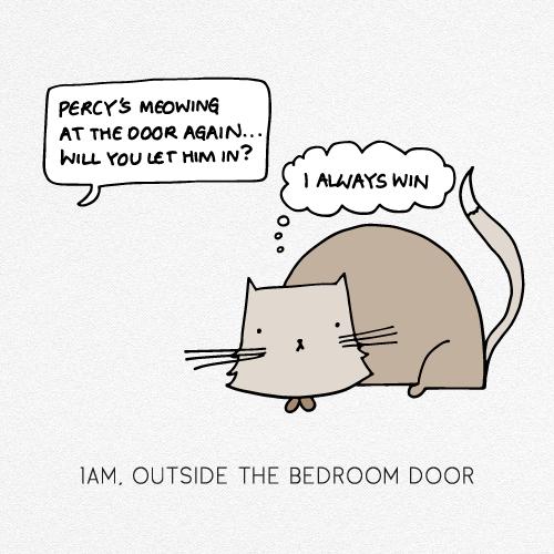 1AM, OUTSIDE THE BEDROOM DOOR